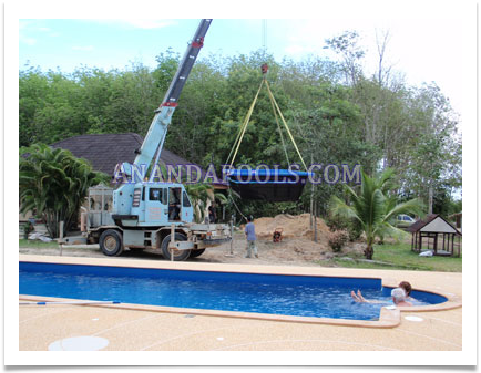 Thailand fibreglass swimming pools services by Ananda Pools
